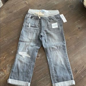 Brand new Old Navy boys grey jeans with drawstring